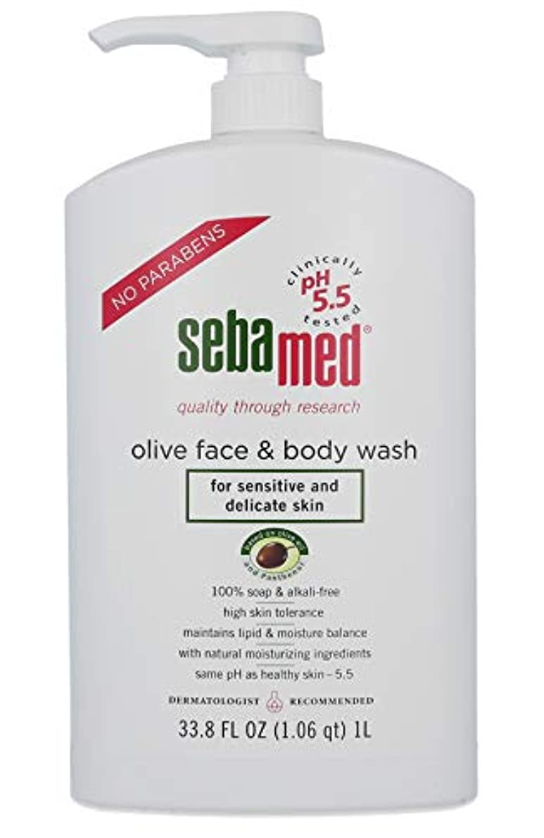 葉っぱエコー太字Sebamed Olive Face & Body Wash, 1L by Sebamed