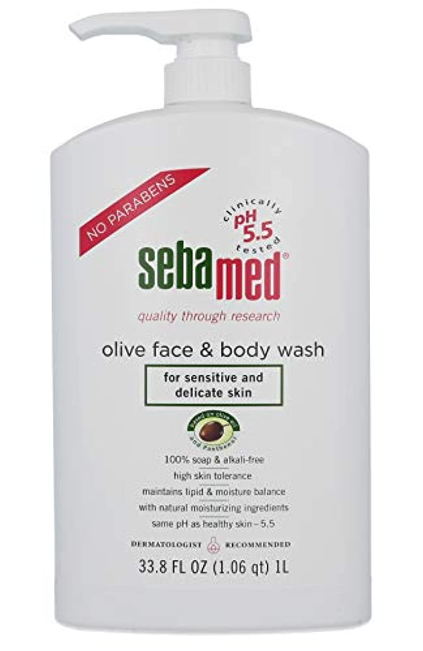 日常的に自分忌避剤Sebamed Olive Face & Body Wash, 1L by Sebamed