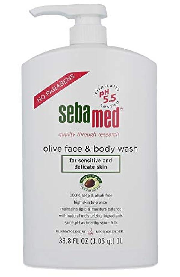 声を出してドック用心するSebamed Olive Face & Body Wash, 1L by Sebamed