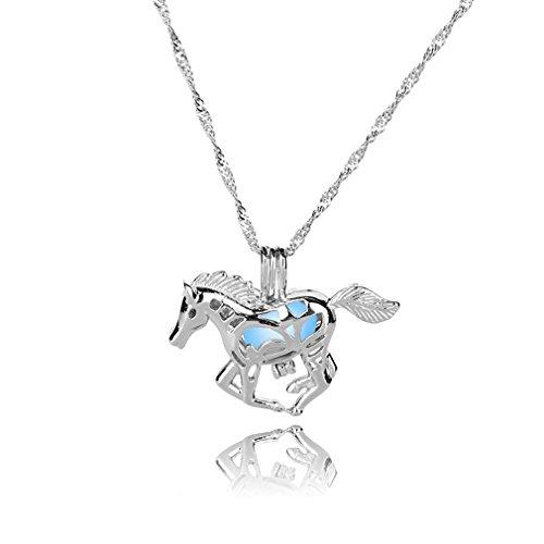 [해외]BEE &  BLUE 목걸이 말 무늬 발광 패션 예쁜 할로윈 액세서리 장식/BEE &  BLUE necklace horse pattern light fashion beautiful Halloween accessory decoration