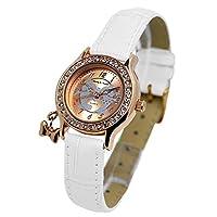 ディズニー Disney ミッキー&ミニー 腕時計 NFC130515 ホワイト×クリスタル石[並行輸入品]