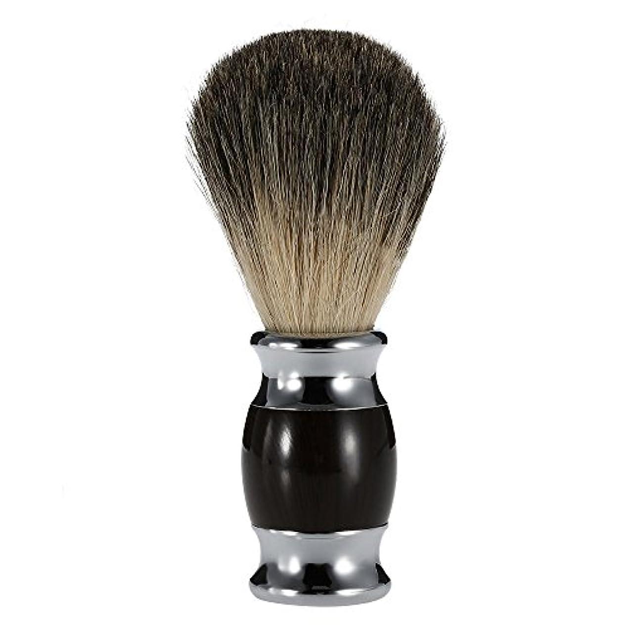 メガロポリスアセンブリ胆嚢Dagly(TM) 男性のひげあごひげクリーニングシェービングブラシピュアバジャー髪のダスティングシェービングカミソリブラシアプライアンスプロ理容サロンツールの父のギフト
