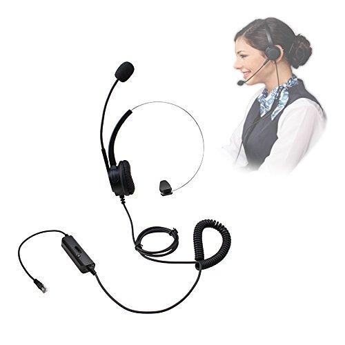 [해외]VINSOO 콜센터 헤드셋~ 핸즈프리 콜센터 소음 취소 코디 드 모노 헤드셋 헤드폰 (4 핀 RJ9 크리스탈 헤드 포함)~ 책상 통화 용 마이크 마이크 전화 센터 전화/VINSOO Call Center Headset~ Handsfree Call Center Noise Canceled Coded Mono Headset...