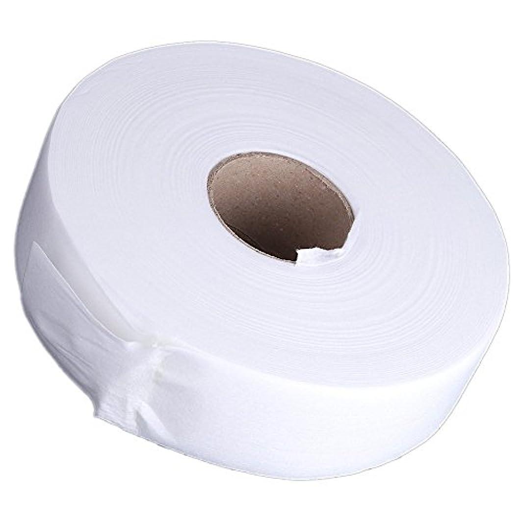 誇り選挙横向きGaoominy 100ヤードの脱毛紙脱毛ワックスストリップ 不織布ペーパーワックスロール(白)