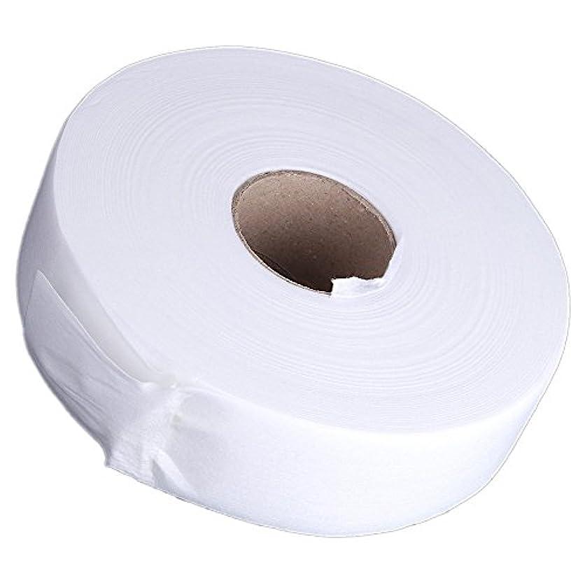 濃度獣眩惑するACAMPTAR 100ヤードの脱毛紙脱毛ワックスストリップ 不織布ペーパーワックスロール(白)