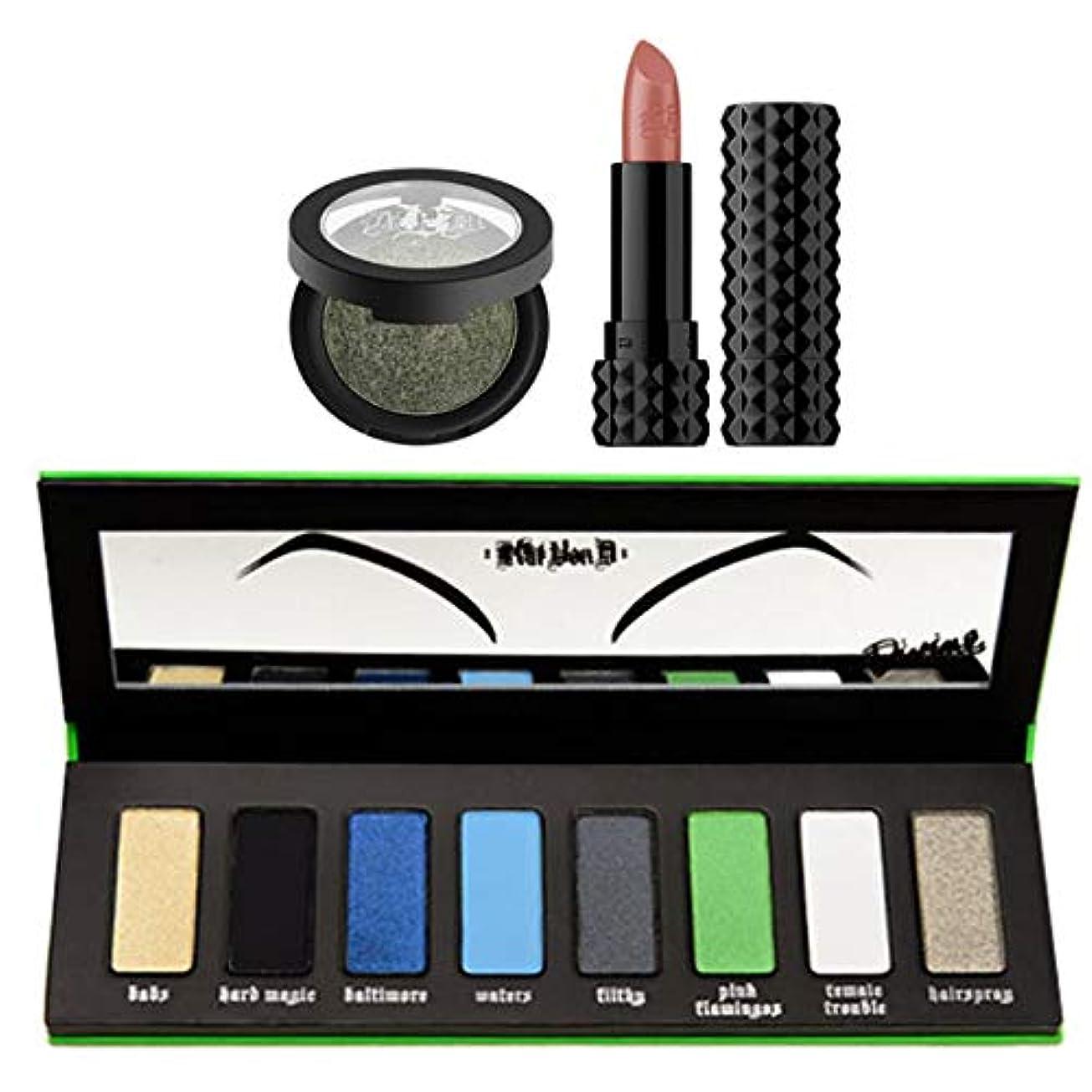エコー反対するシロクマKat Von D キャットヴォンD, I Am Divine Palette + Metal Crush Eyeshadow (Black No. 1) + Crème Lipstick [並行輸入品] [海外直送品]
