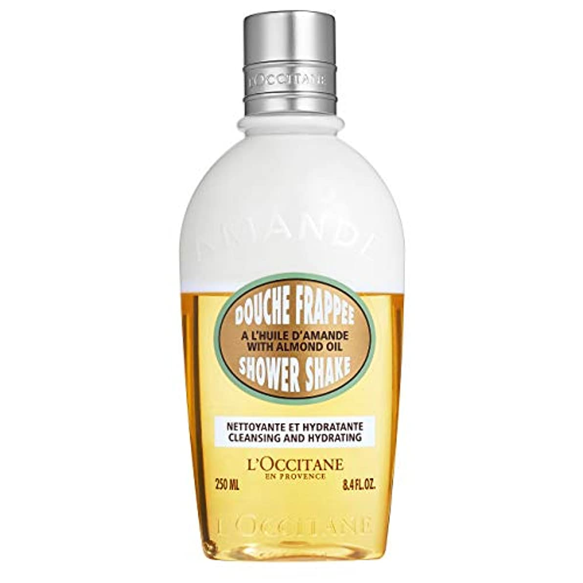 差し引く短くする海外でロクシタン(L'OCCITANE) アーモンド ミルクシャワーシェイク 250ml(ボディ用洗浄料)