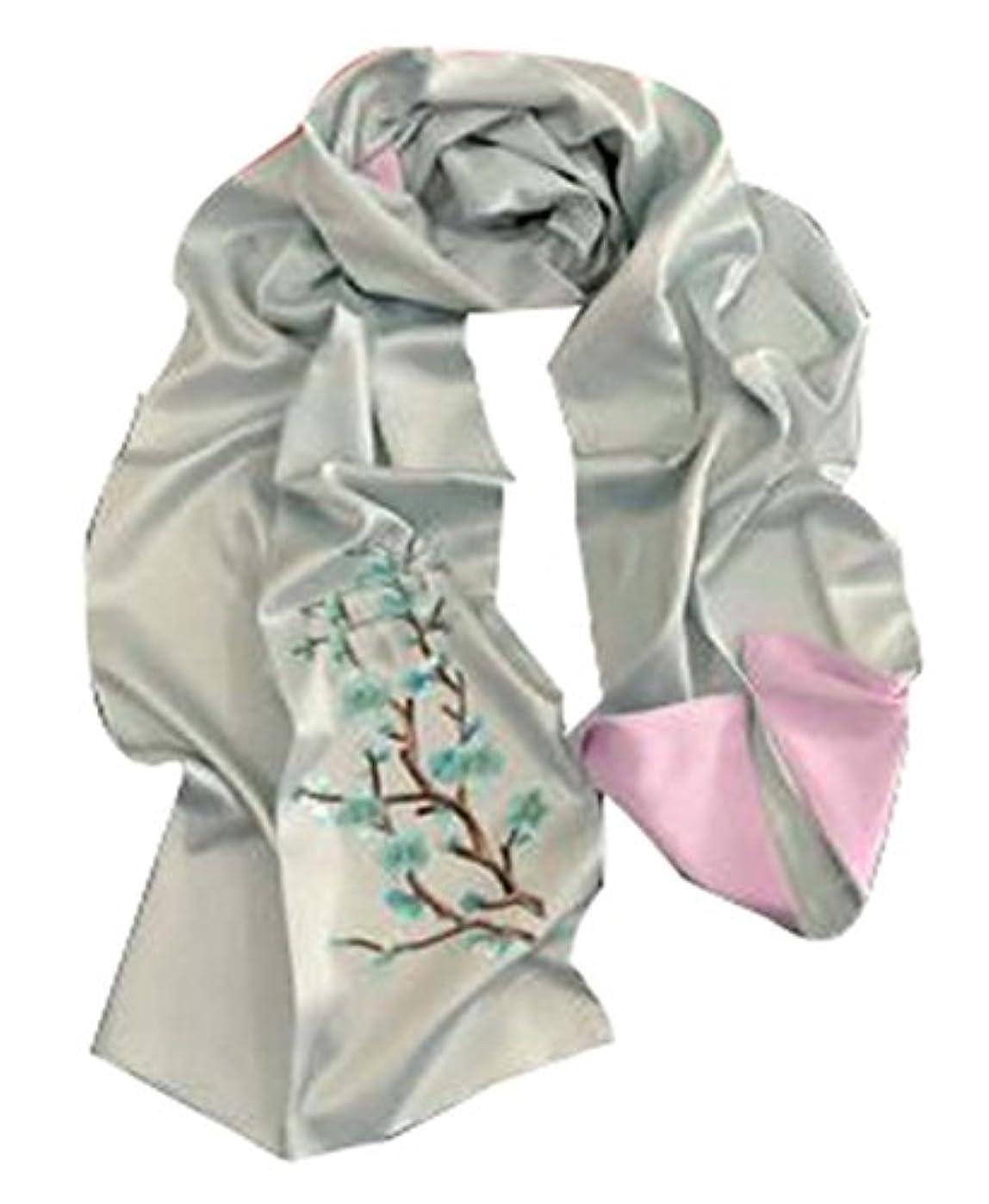 蒸留する醸造所補足シルク刺繍スカーフファッションスカーフ女性のための長いショール #01