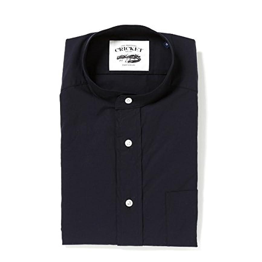 詳細なシェル学習者[クリケット] Cricket シャツ タイプライター生地 スタンドカラーシャツ 日本製 コン