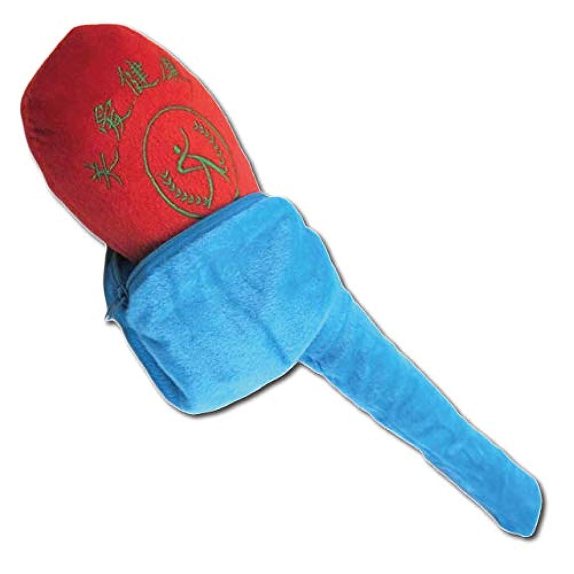 フェリモア 肩叩き棒 肩たたき 磁石 肩のコリ マッサージ 器具 肩もみ 四重肩や五重肩に (ブルー×レッド)
