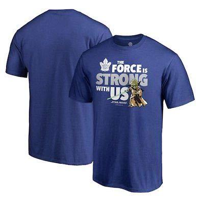 NFL Toronto Maple Leafs Fanatics Branded Star Wars Jedi Strong T-Shirt - Blue Tシャツ(ファングッズ)【並行輸入品】
