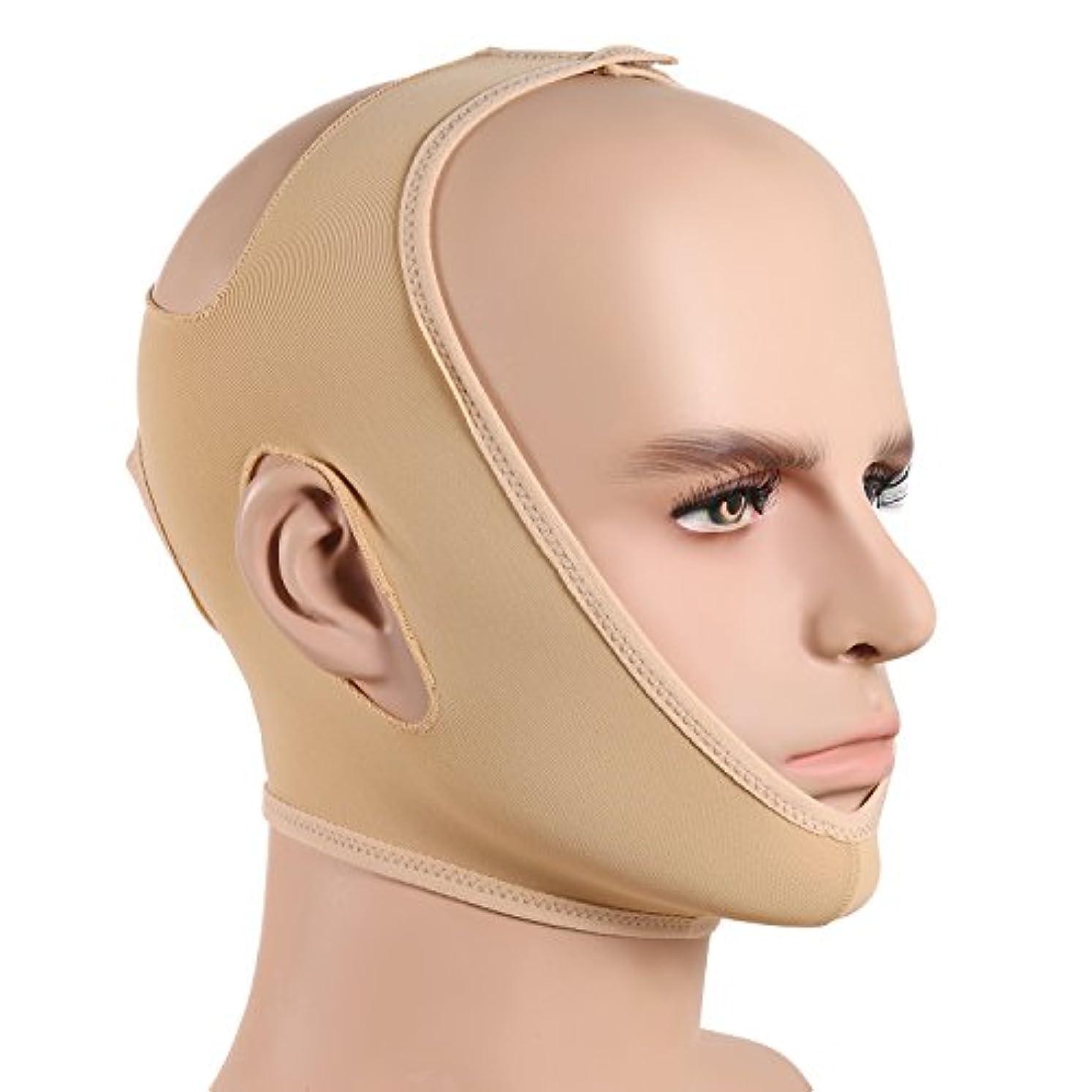 ブラウン全部文言JewelryWe 小顔ベルト 美顔マスク 眠りながら 小顔 矯正 額、顎下、頬リフトアップ 小顔マスク 男女兼用 Mサイズ