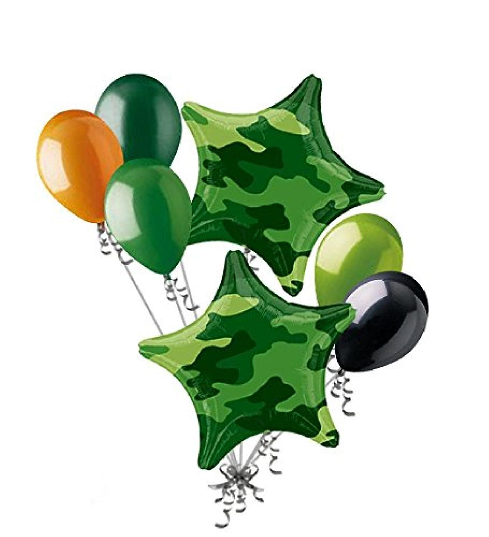 7pc迷彩星バルーンブーケ陸軍海兵隊Military Happy誕生日ようこそホーム