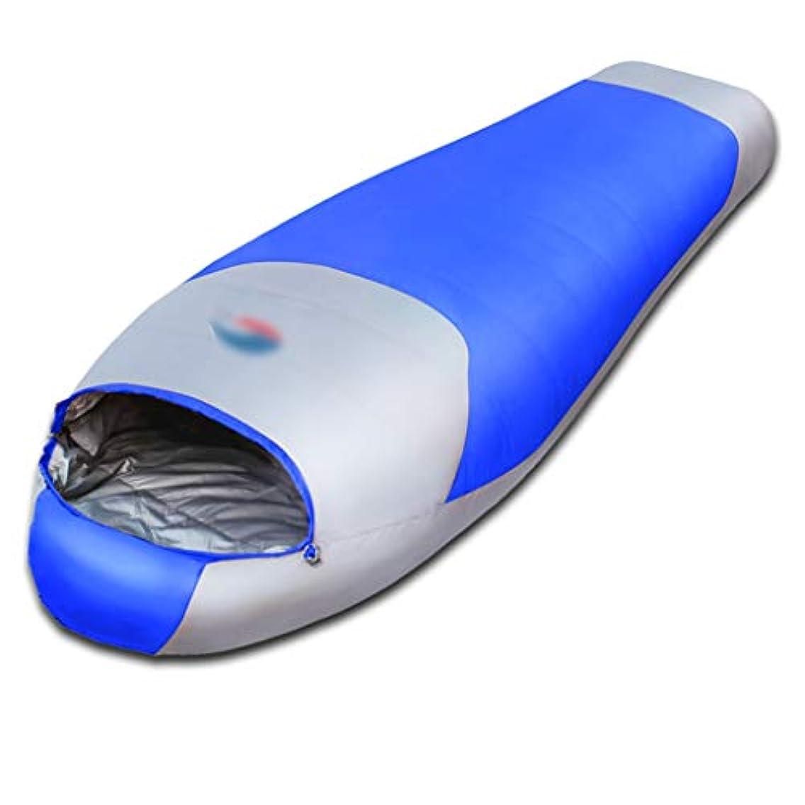 名前刻むスローキャンプ用寝袋キャンプ寝袋大人の寝袋寝袋春と秋の冬のアウトドアキャンプ寝袋大人の屋内の暖かい白アヒルの超軽量寝袋 (Color : ORANGE, Size : 200*78CM)