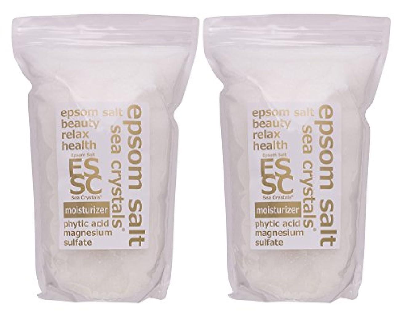 雰囲気ぎこちない捧げるエプソムソルト 8kg (4kgX2) モイスチャライザー 入浴剤(浴用化粧品) フィチン酸配合 シークリスタルス 計量スプーン付
