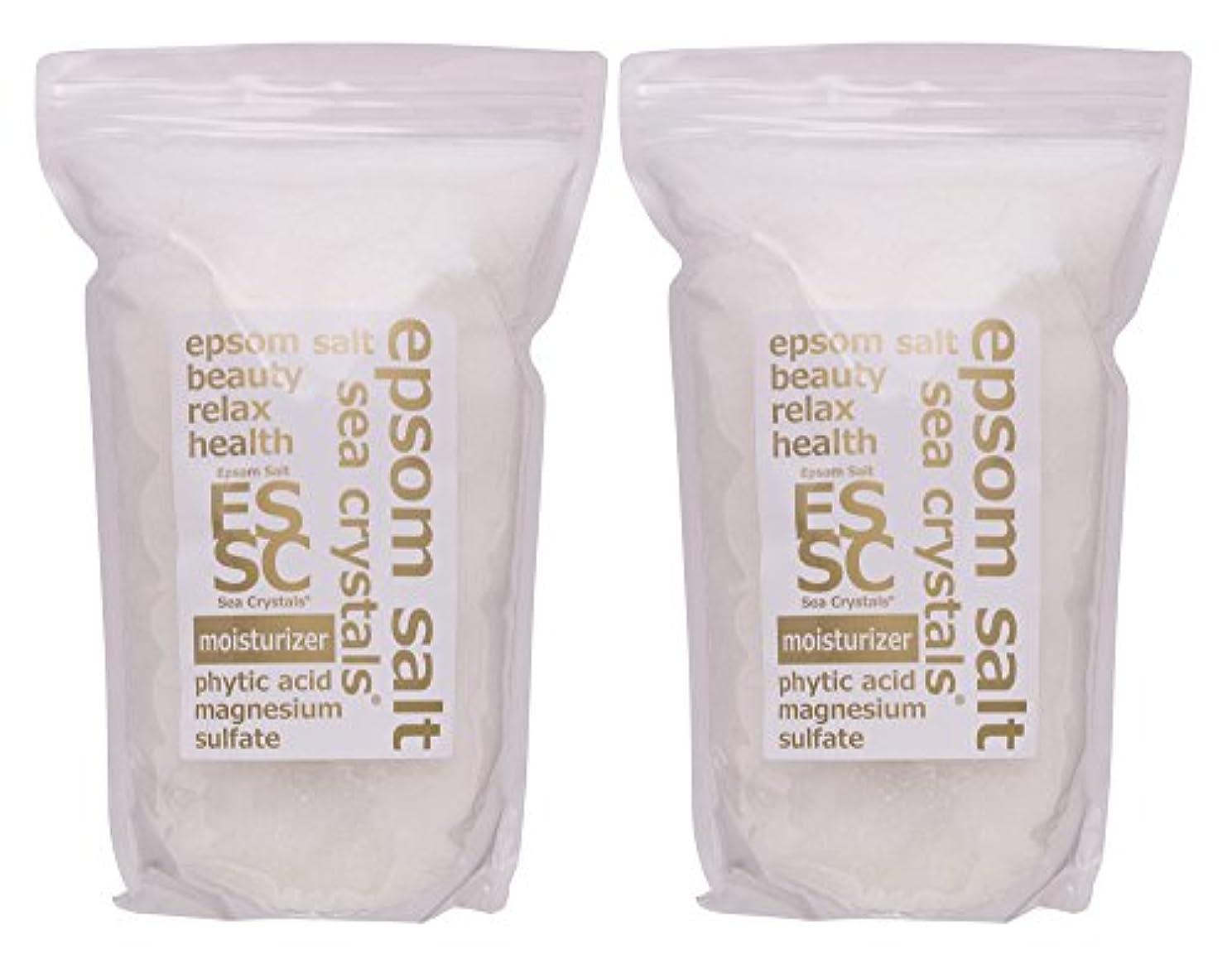 ホット光景主要なエプソムソルト 8kg (4kgX2) モイスチャライザー 入浴剤(浴用化粧品) フィチン酸配合 シークリスタルス 計量スプーン付