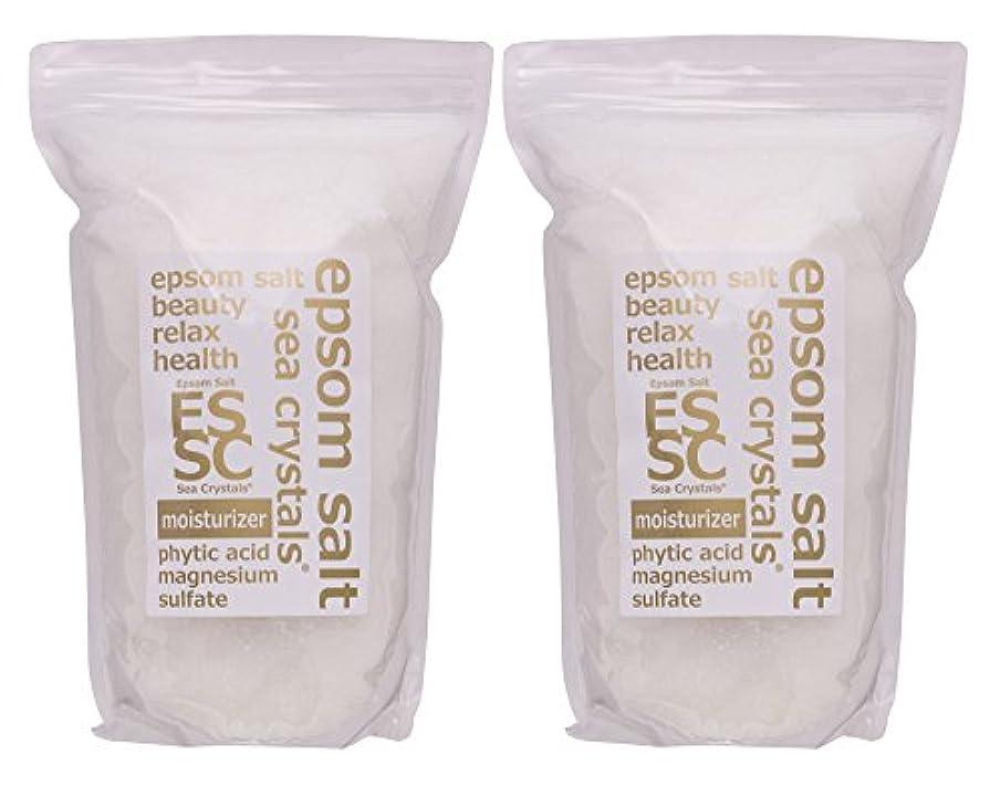 考古学的なブルジョンキャストエプソムソルト 8kg (4kgX2) モイスチャライザー 入浴剤(浴用化粧品) フィチン酸配合 シークリスタルス 計量スプーン付