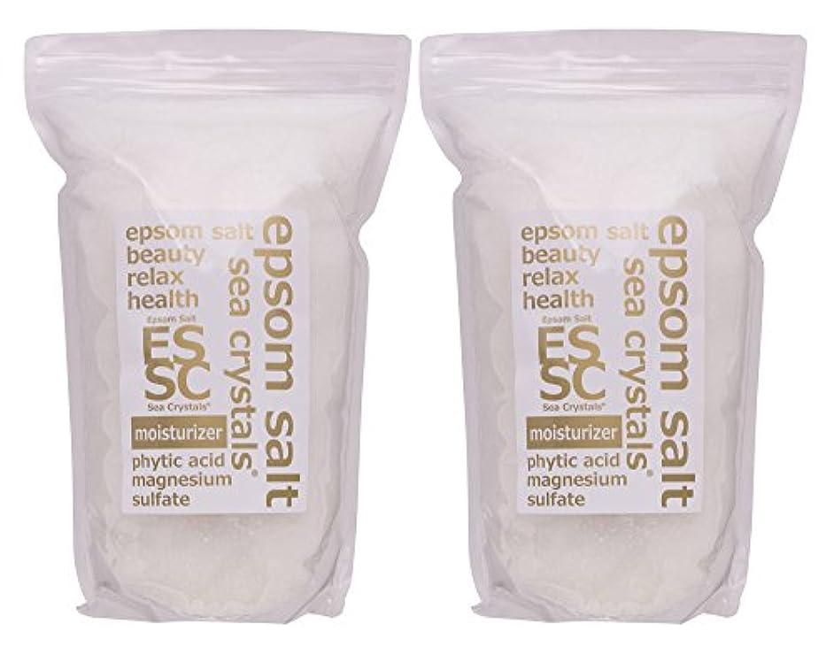 柱悪党いじめっ子エプソムソルト 8kg (4kgX2) モイスチャライザー 入浴剤(浴用化粧品) フィチン酸配合 シークリスタルス 計量スプーン付
