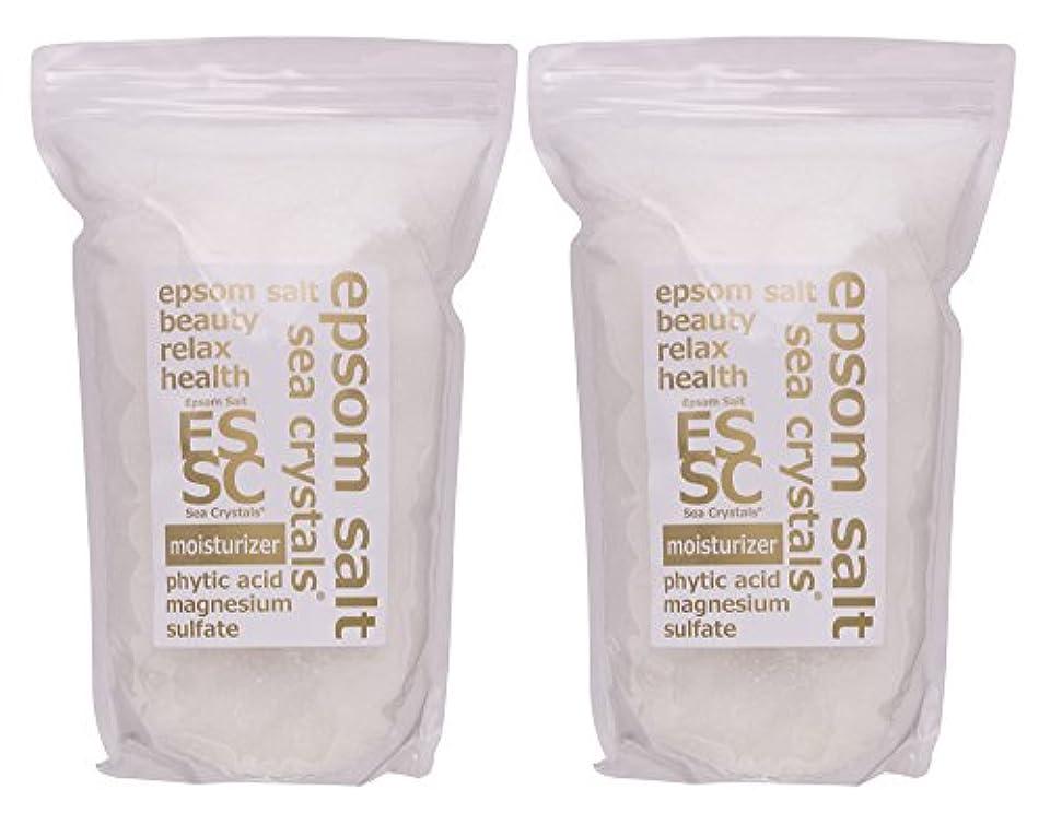 たとえ申込み常識エプソムソルト 8kg (4kgX2) モイスチャライザー 入浴剤(浴用化粧品) フィチン酸配合 シークリスタルス 計量スプーン付