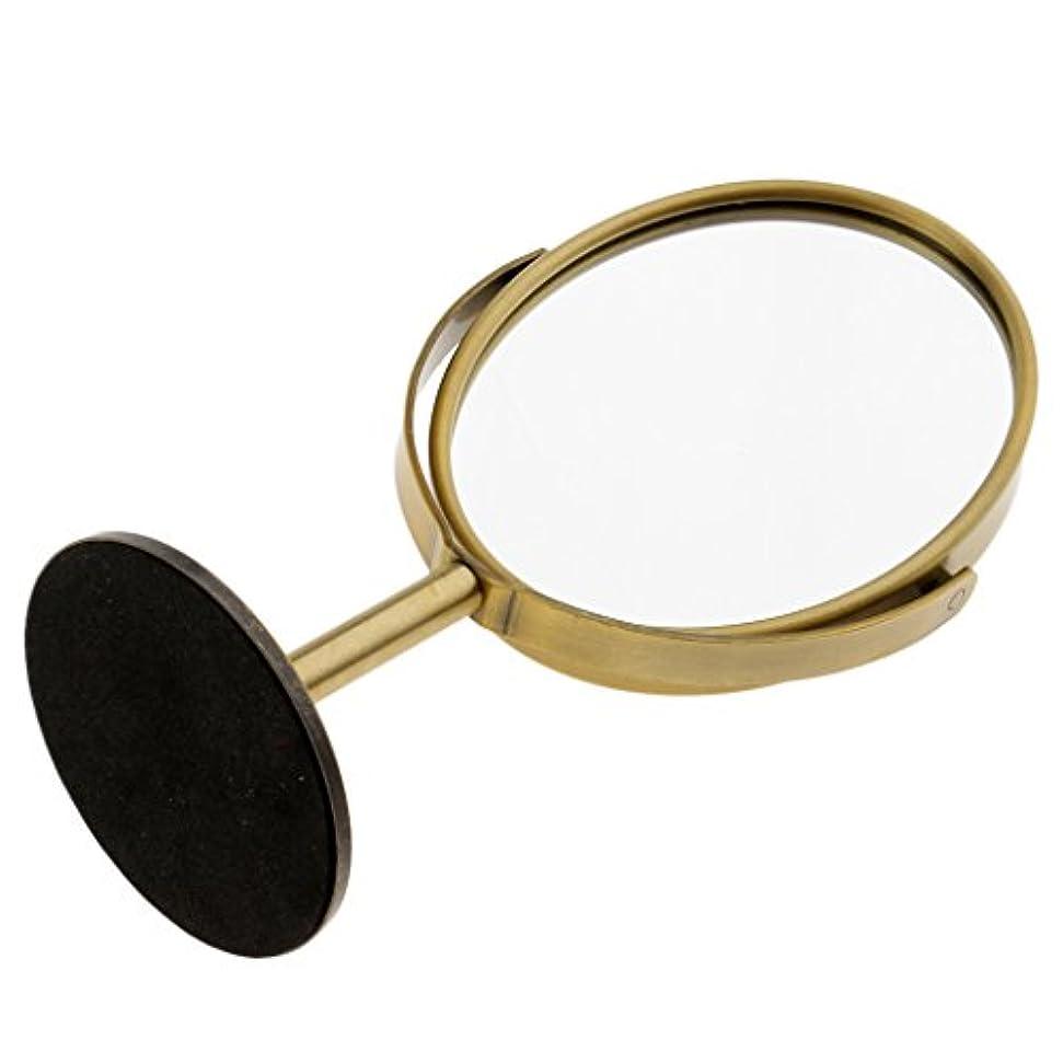 パースブラックボロウ協力代表してDYNWAVE 化粧鏡 メイクミラー 拡大鏡 卓上ミラー スタンド メイク メイクアップ 2色選べる - ブロンズ