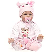 NPK New Arrival 60cm Silicone Reborn Baby Doll Vinyl Doll Todder Birthday Gift