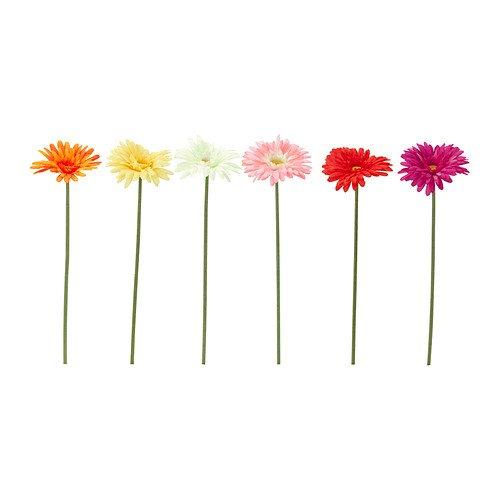 IKEA(イケア) SMYCKA 90237362 造花, ガーベラ アソートカラー 画像の中の1点