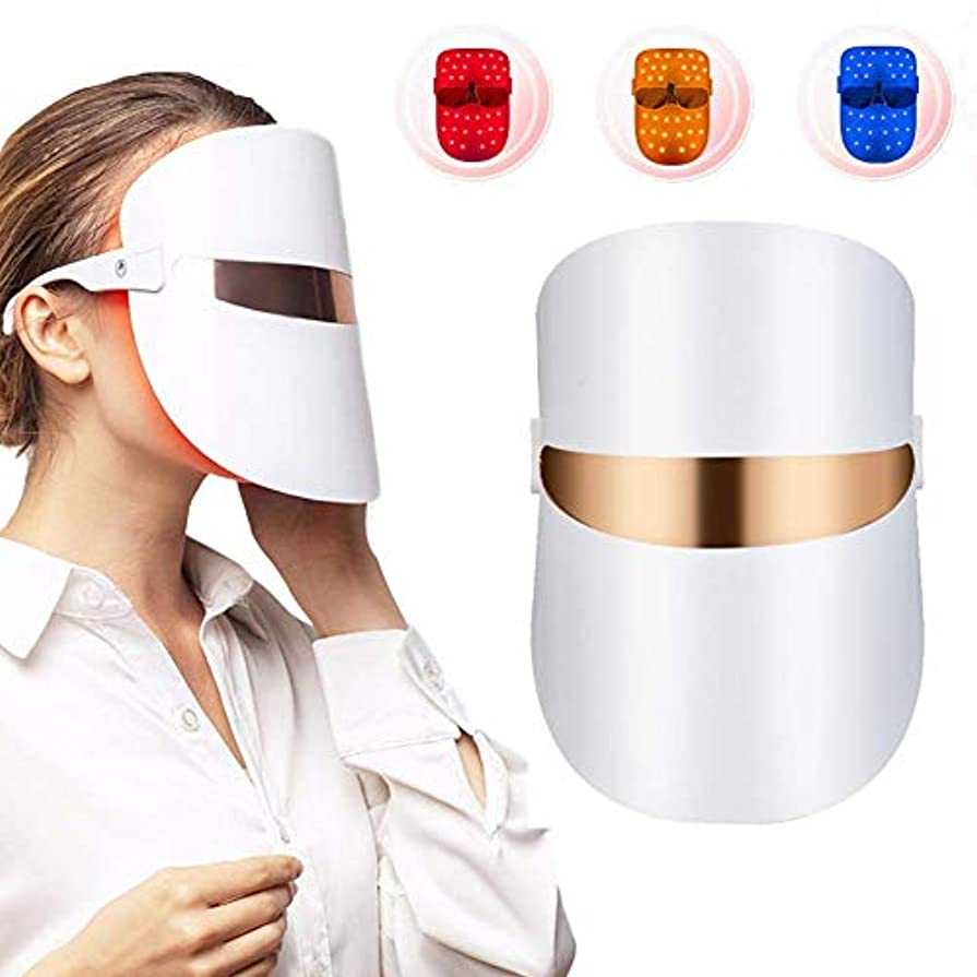 メッシュ個人的などこにもフォトンライトセラピーフェイスLED美容スペクトラル肌の若返りは、アンチしわホワイトニングにきびのクリーニングをマスクマスク