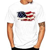 Tシャツ 大きいサイズ メンズ Duglo アメリカ国旗 プリント 男性 カジュアル 半袖 夏 カッコイイ 個性的 ゆったり 吸汗速乾 トップス 春 通勤 薄手 スポーツ 日常 シンプル 上着 カットソー 通学 ブラウス 快適 T-shirt for men