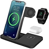 3 IN 1 Wireless Charger FDGAO Foldable Wireless Charging Station 15W Fast Charger Dock Station For iPhone 13/12/12 Pro/11/XR/