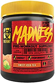 Mutant Madness Pre Workout Sweet Iced Tea Supplement 225 g,, Sweet Iced Tea 225 grams