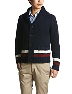 Fred Perry Low Gauge Shawl Collar Cardigan F3083: Navy