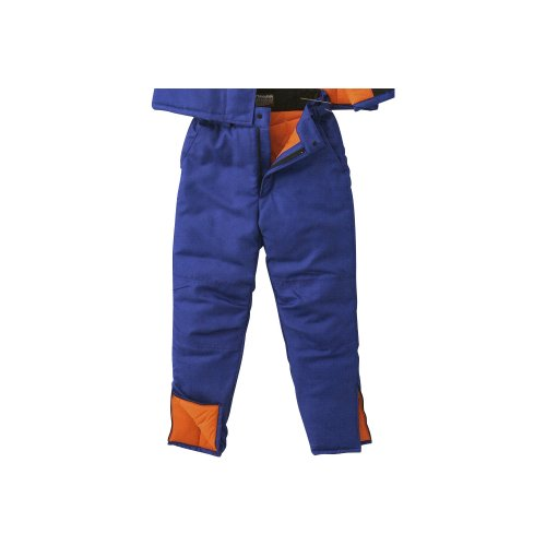 防寒着 -40℃まで対応できる!冷凍倉庫用防寒パンツ  ブルー  M