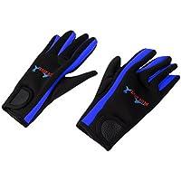 Fenteer 1ペア 1.5mmネオプレン 弾性 ウェットスーツ 手袋 スキューバ スイミング カヤック用 ダイビング グローブ 全2色 3サイズ選べる