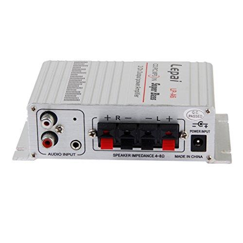 【ノーブランド品】車 オーディオアンプ 小型 高性能 12V 2A MP3 MP4 ステレオオーディオ