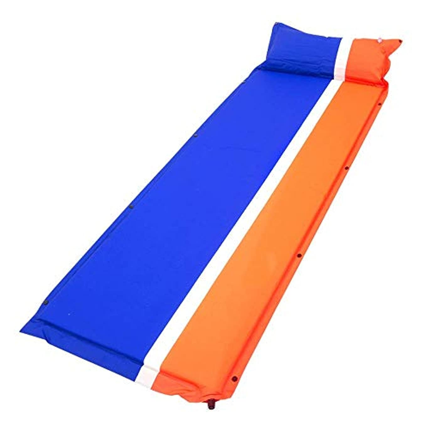 内陸ドレイン耕すWSJTT スリーピングパッド-ハイキング、バックパッキングに最適な枕、軽量、防湿キャンプパッド付きの快適でコンパクトな自己膨張式スリーピングマット