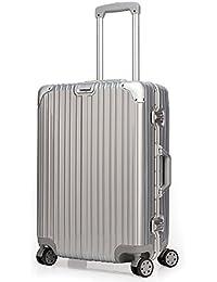クロース(Kroeus)スーツケース アルミフレーム ベルトフック付き 軽量 鏡面 【TSAロック 日本語取扱説明書 1年保証】