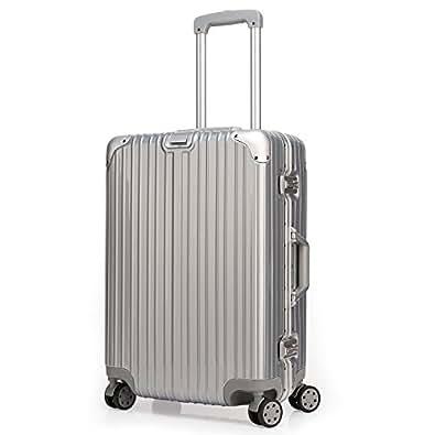 クロース(Kroeus)スーツケース TSAロック搭載 キャリーケース アルミフレーム 機内持込可 ベルトフック付き 旅行 軽量 8輪 鏡面仕上げ