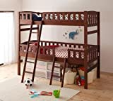 収納ができる天然木分割式2段ベッド Pacio パシオ ホワイトウォッシュ