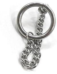 [ユグドラシル] Jane earrings ワンフープ付き チェーンピアス シルバー 銀 1個 B 片耳 リング&チェーンピアス