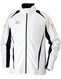 ミズノ ウォームアップシャツ ホワイト×ブラック 32JC601001 XS