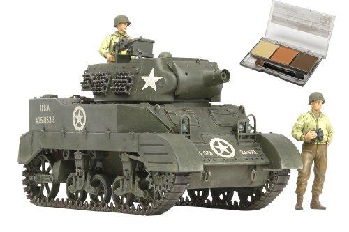 スケール限定シリーズ 1/35 アメリカ 自走榴弾砲 M8 出撃待機セット (人形3体付き) (ウェザリングマスター付き) 25113