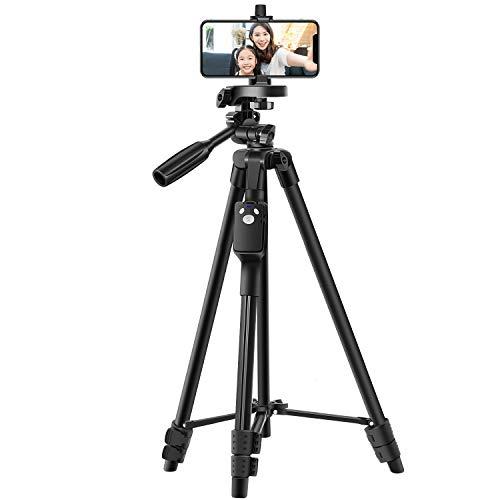 三脚 スマホ三脚 リモコン付き ビデオカメラ 一眼レフカメラ ミニ三脚 さんきゃく 3WAY雲台 4段階伸縮 360回転 収納袋付きiPhone/Android スマホ等対応