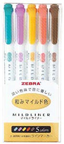 ゼブラ 蛍光ペン マイルドライナー 和みマイルド色 RC5色 WKT7-5C...