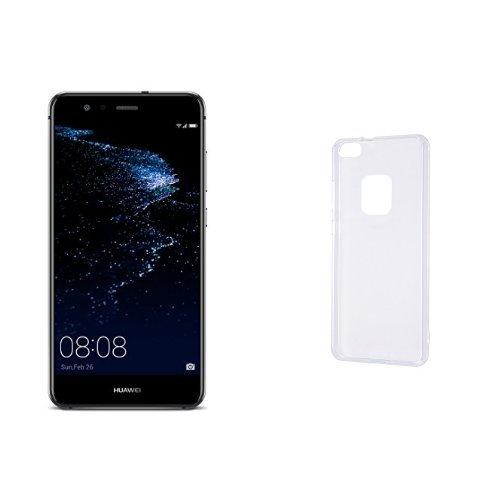 Huawei 5.2型 P10 lite SIMフリースマートフォン ミッドナイトブラック 【日本正規代理店品】(ケースセット)
