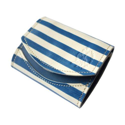【極小財布】 栃木レザー クアトロガッツ ペケーニョ ピカソ 青の時代