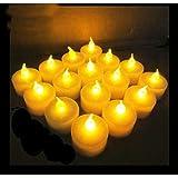 24X SmartLight Yellow Flameless LED Battery Tea Light Candles Tealights-Kid/PET