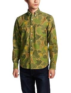 Camouflage Buttondown Shirt 13050312001710: Green