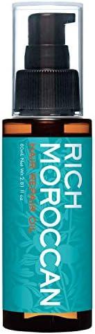 リッチモロッカン ヘアリペアオイル (80ml /3ヶ月分/ アルガンオイル) ヘアオイル 日本製