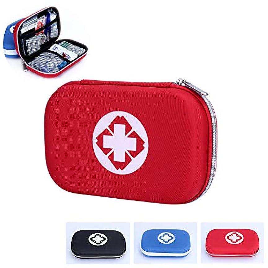 不均一創造終点応急処置ポーチボックス、空の防水薬収納袋ポータブル医療パッケージ緊急医療キット用ホームカー旅行屋外,赤