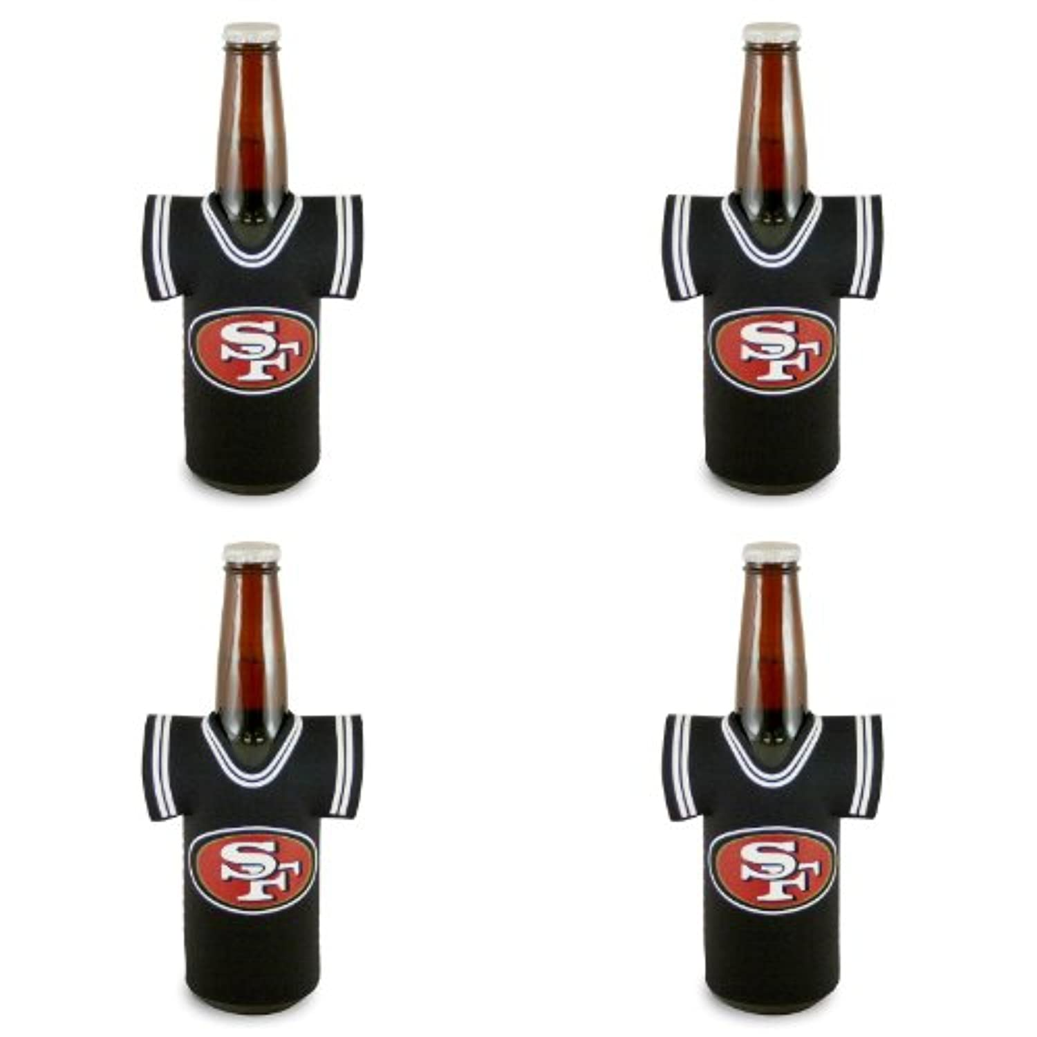 NFL San Francisco 49ersジャージーBottle Koozie 4パック